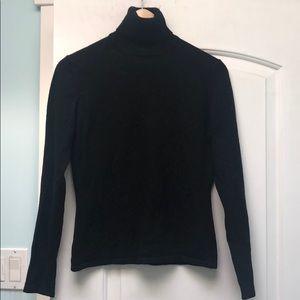 TSE 100% cashmere black turtleneck sz M